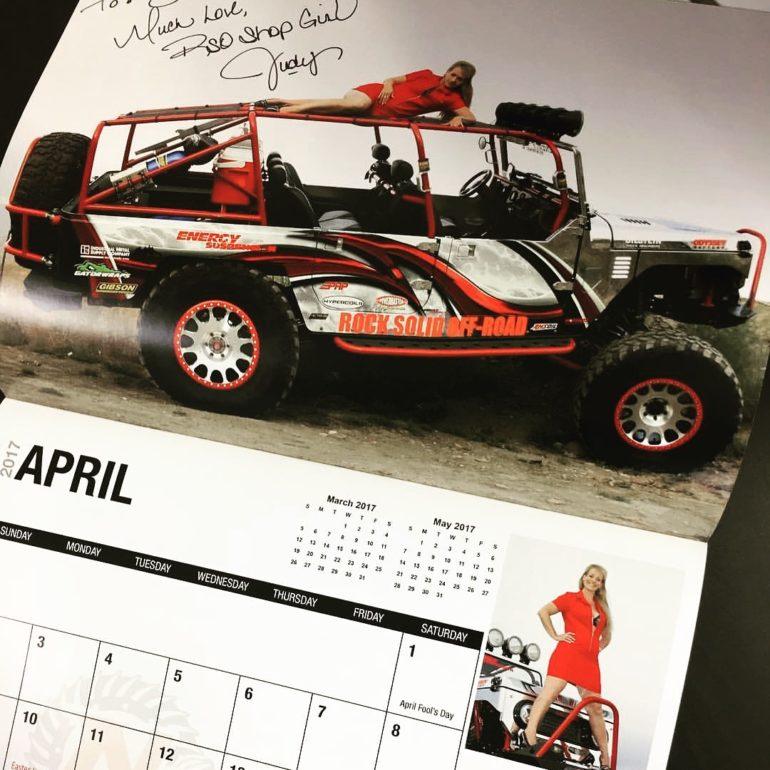 Miss April 2017 Nitro Gear Goddess Calendar