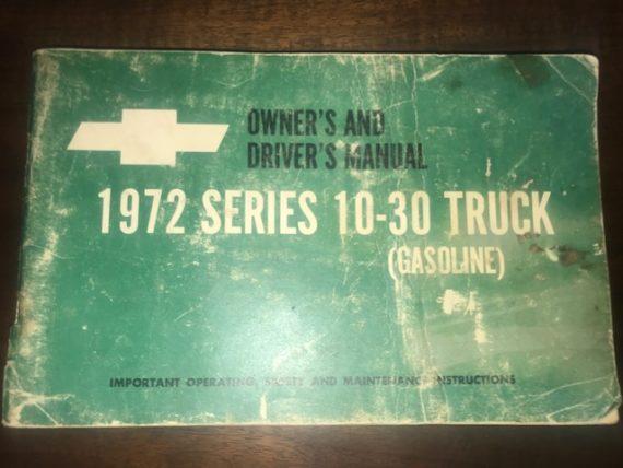 Original Owner's & Driver's Manual